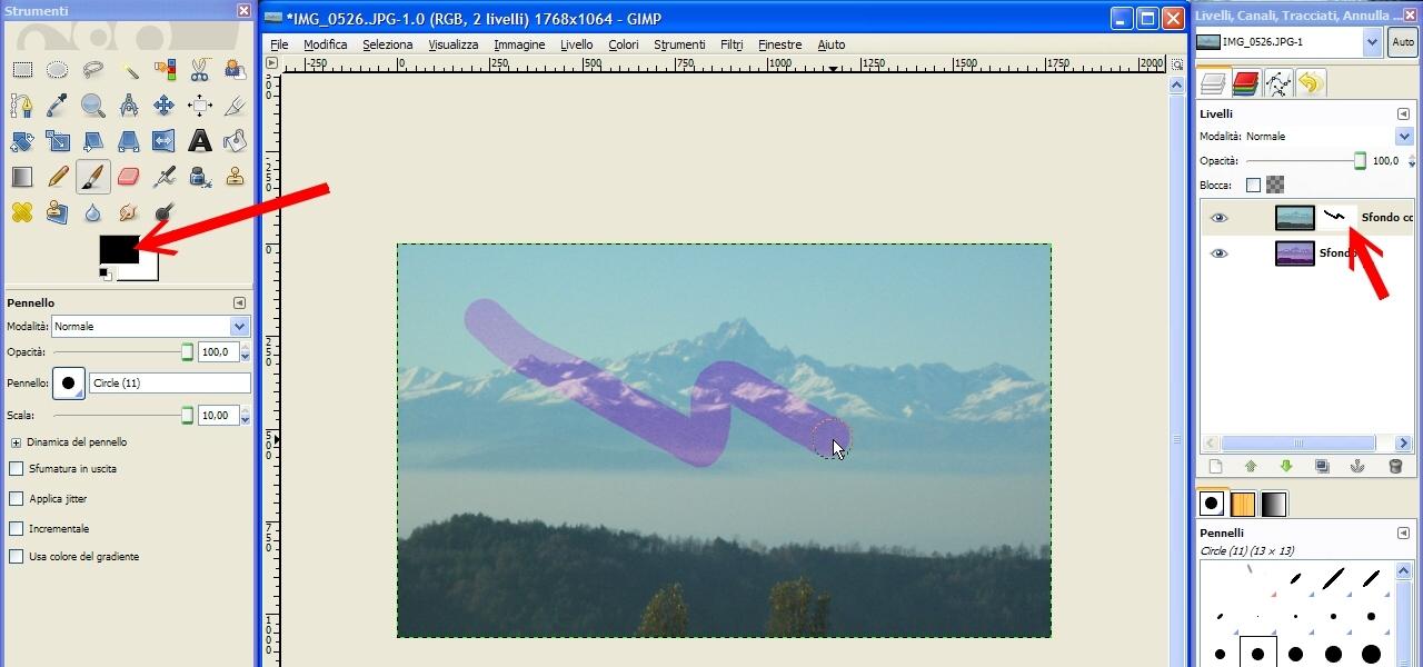 GIMP: Maschere di Livello