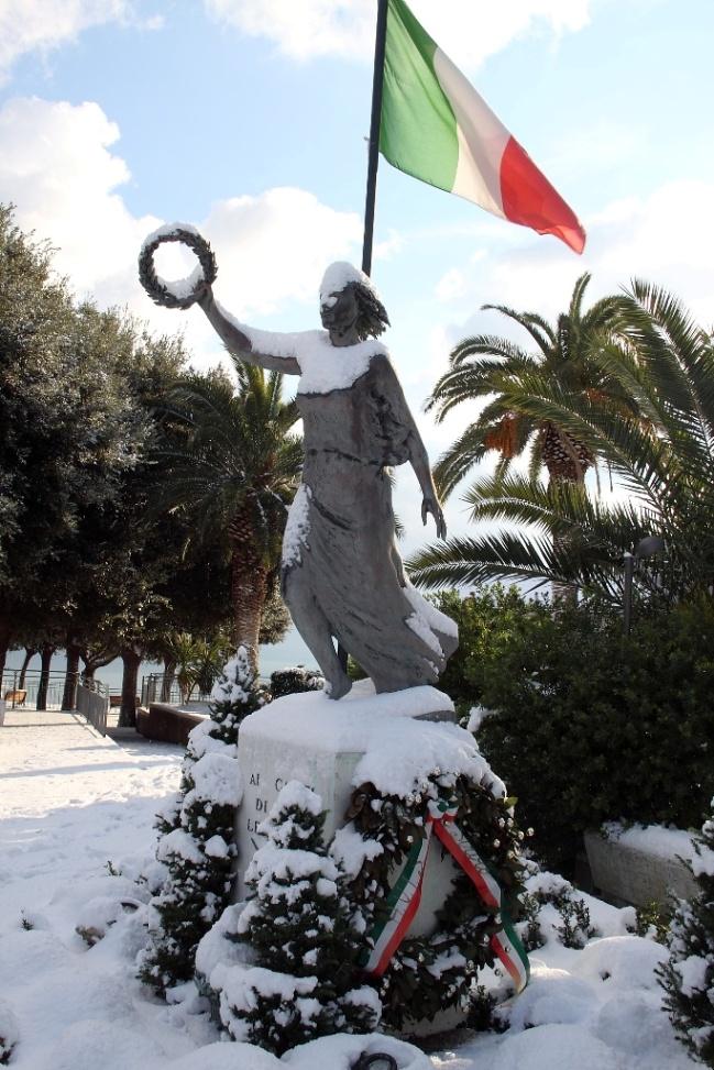 L''Italia sotto la neve