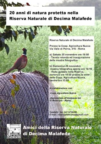 Anniversario dell''istituzione della riserva di Decima Malafede