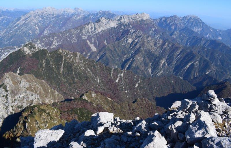 Crep Nudo (2.207 m) da Forcella Venal e Capel Grande