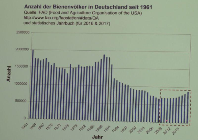 Lo sviluppo delle colonie di api in Germania