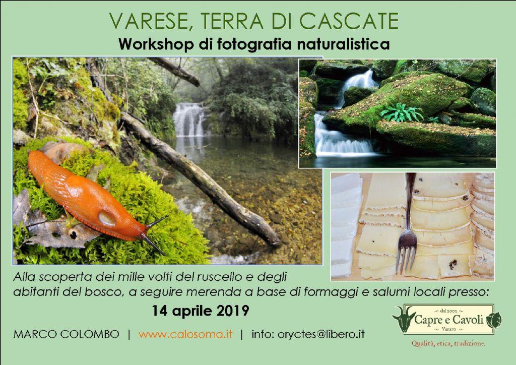 workshop di fotografia naturalistica con degustazione prodotti locali