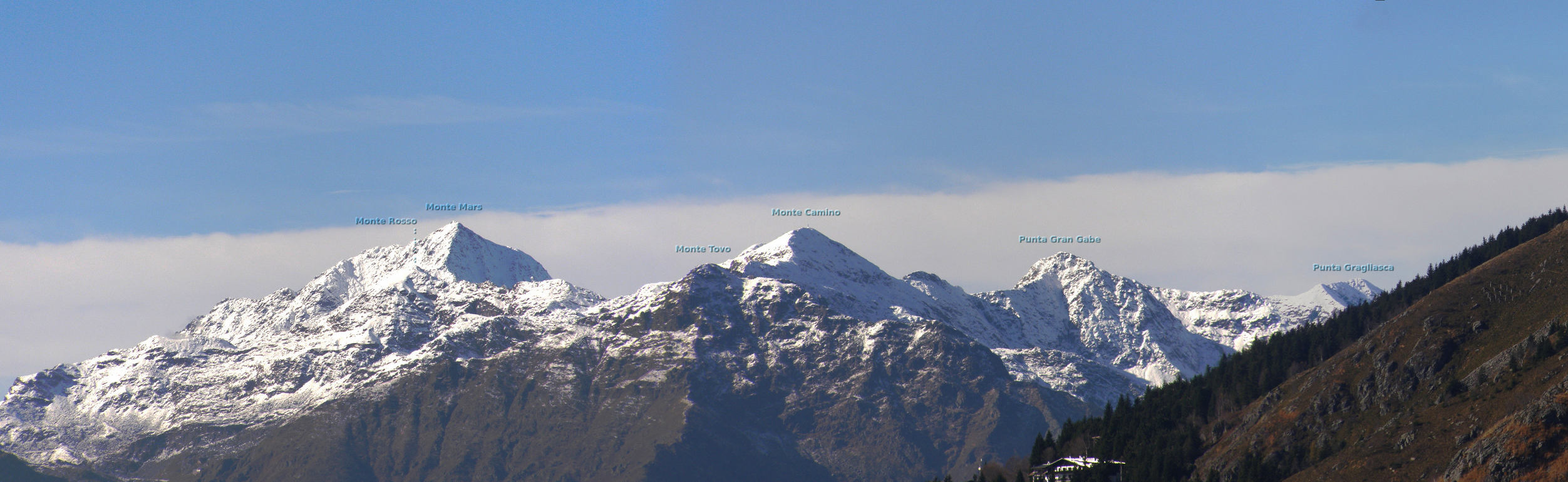 Montagne dalla panoramica Zegna