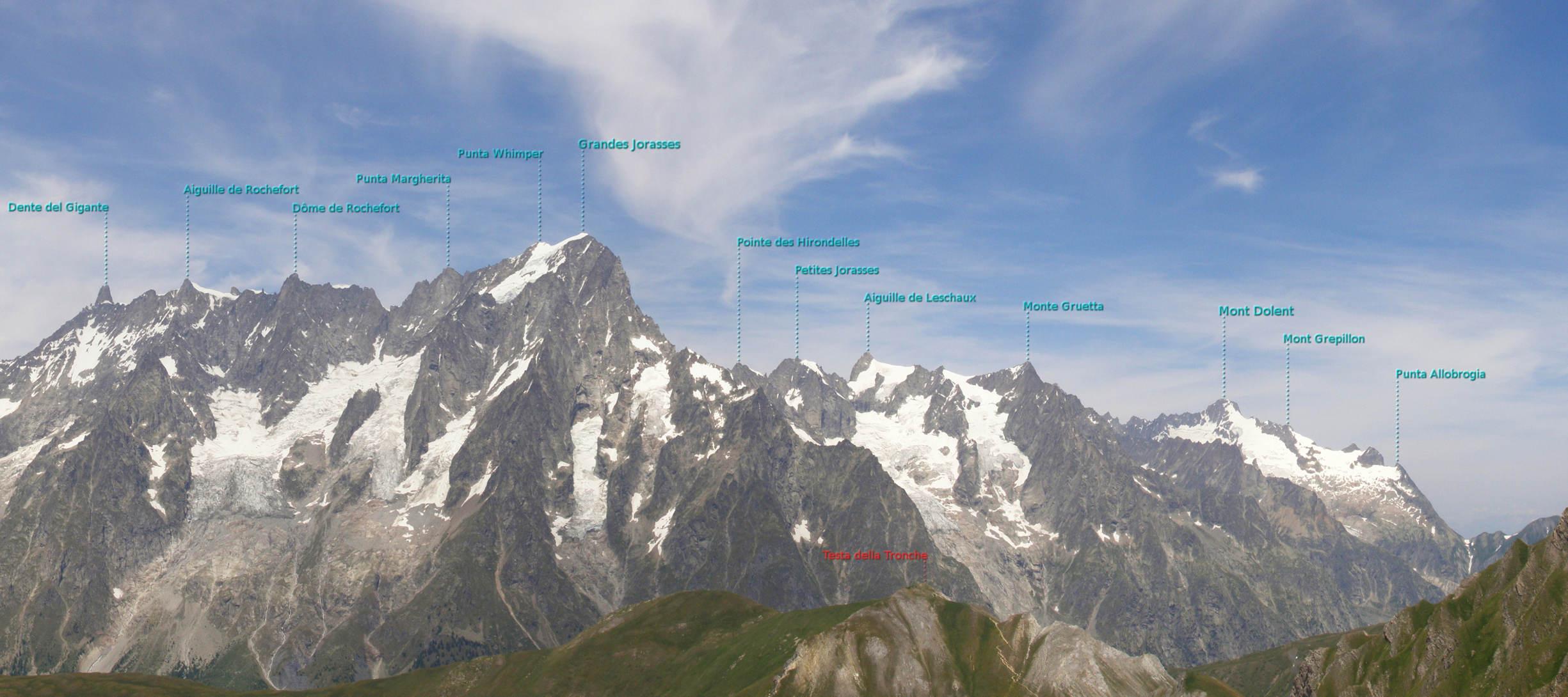 Monte Bianco dal Colle Liconi