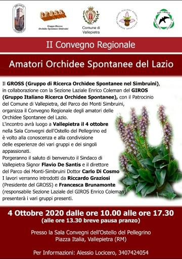 II Convegno regionale sulle orchidee spontanee a Vallepietra