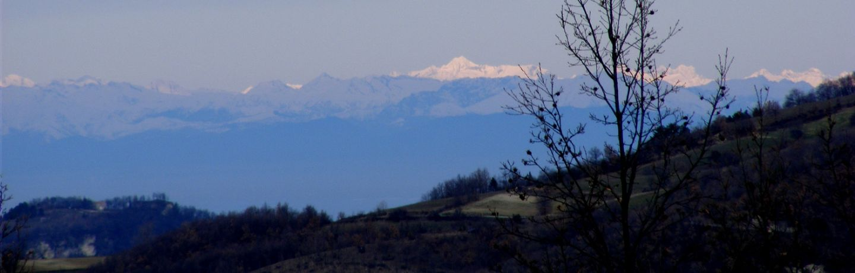Le Alpi viste da Menconico (PV)
