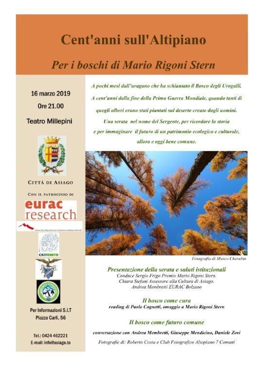 Per i boschi di Mario Rigoni Stern. 16 marzo