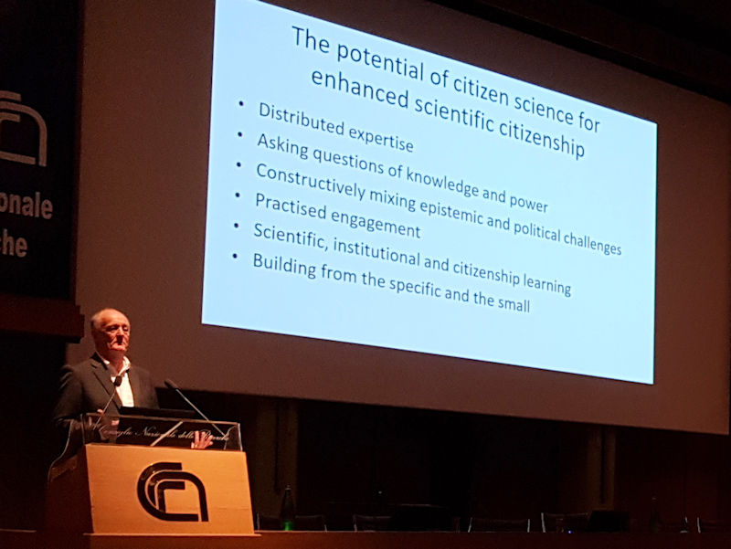 First Italian Citizen Science Conference, Roma 23-25/11 2017