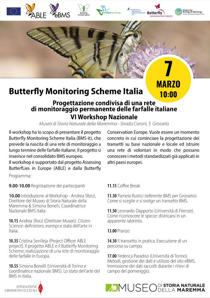 Workshop a Grosseto il 7 marzo 2020 sul monitoraggio ropaloceri